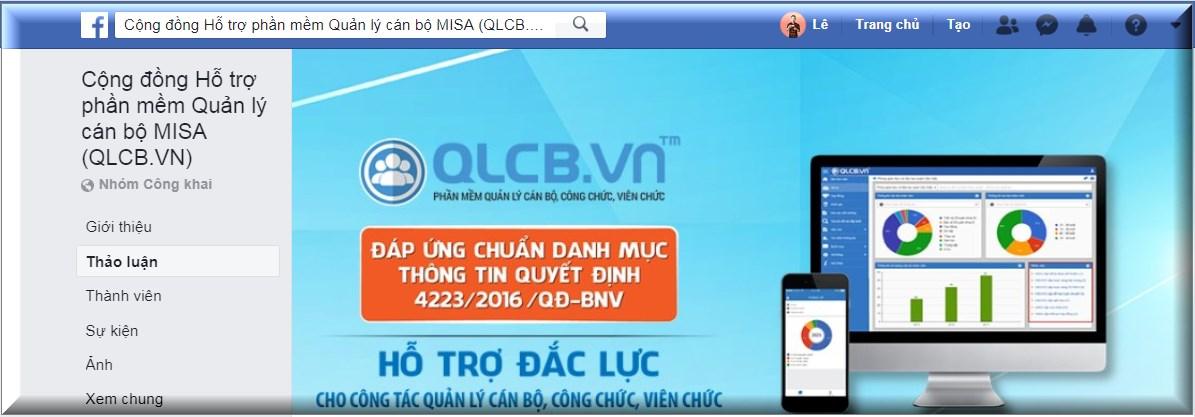 Tham gia ngay Cộng đồng hỗ trợ phần mềm QLCB.VN trên FACEBOOK